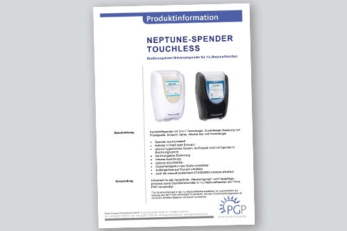 NEPTUNE TOUCHLESS • Physioderm