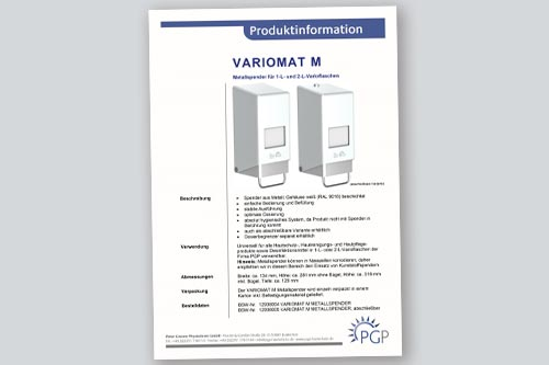 VARIOMAT M • Physioderm